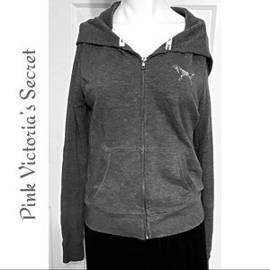 Pink Victoria's Secret Blinged Hoodie Size S 6/8